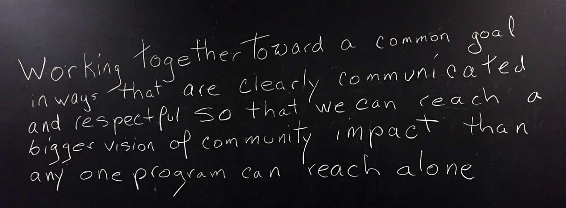 Positive community impact message